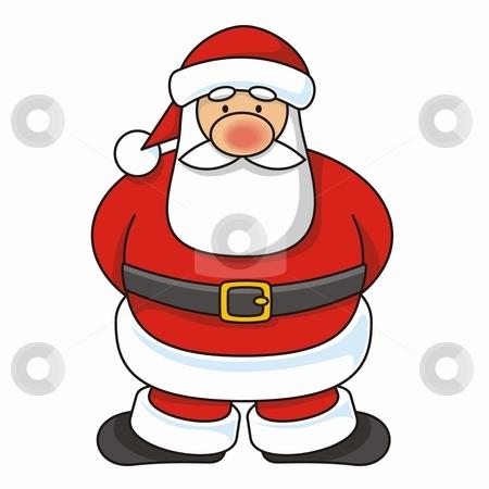 Santa Claus stock vector clipart, Cartoon illustration of a Santa Claus standing. by fractal.gr