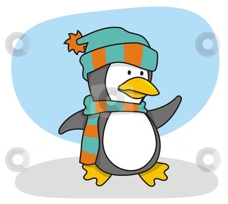 Little penguin 1 stock vector clipart, Vector cartoon of little penguin by fractal.gr