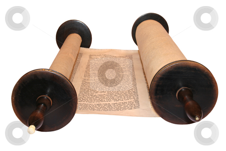 Torah stock photo, Torah, the first and main body of the Tanach, the Hebrew Bible. by Simone Voigt