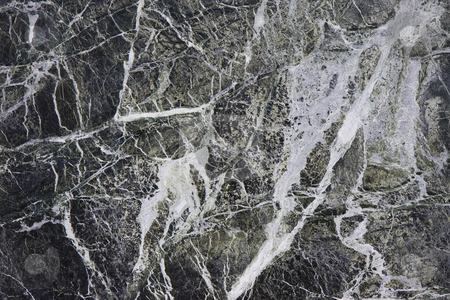 Green marble stock photo, Green marble with white veins; tile close-up by Rafael Laguillo