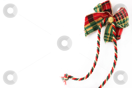 Red-Green Gift looping right side on a white background stock photo, Red-Green Gift looping right side on a white background by Christine Langer-Pueschel