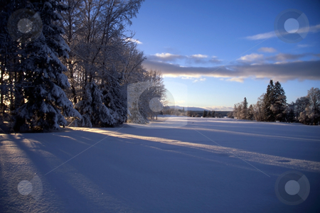 Winter Landscape stock photo, Winter landscape in north Europe by Sasas Design