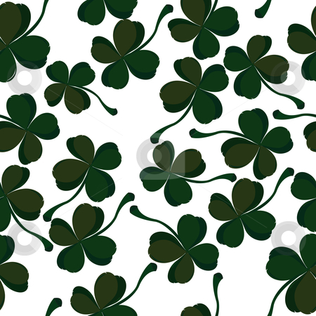 Clover pattern stock vector clipart, Four leaf clover pattern by Richard Laschon