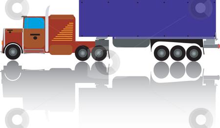 Big truck stock vector clipart, Big truck illustration, vector art by Richard Laschon