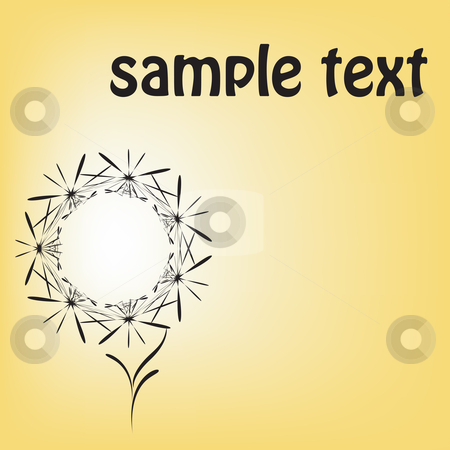 Floral bouchet stock vector clipart, Sample text floral cardoa a bright and warm background by Richard Laschon