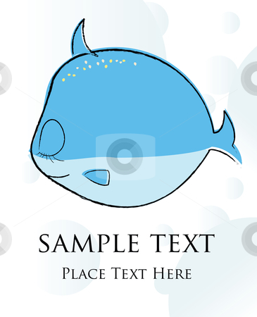 Fish card stock vector clipart, Fish card by Richard Laschon