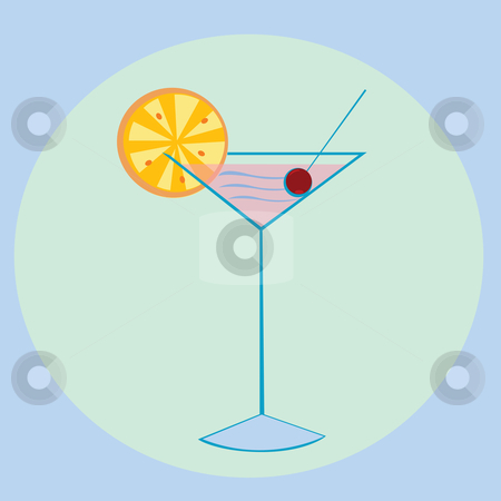 Cocktail stock vector clipart, Cocktail illustration by Richard Laschon