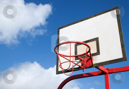 Park basketball hoop. stock photo, Park basketball hoop. by Stephen Rees