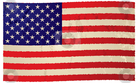Usa flag grunge flag stock vector clipart, Usa grunge flag with ripple effect ideal background image by Michael Travers