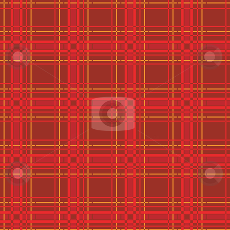 Red scout stock vector clipart, Red fabric scout background, vector by Richard Laschon