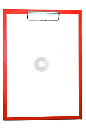 Clipboard stock photo, Clipboard isolated on white with empty space for text message by Gunnar Pippel
