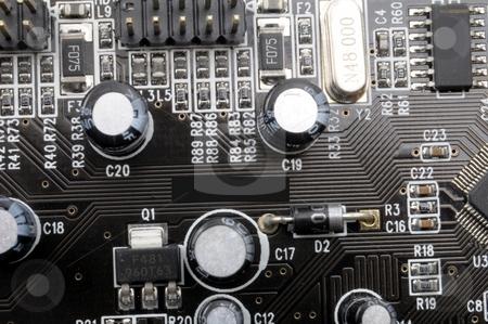 High tech computer equipment stock photo, Modern high tech computer electronics eqipment background by Gunnar Pippel