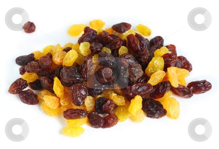 Mixed black and white raisins stock photo, A pile of mixed