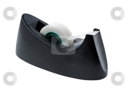 Adhesive tape dispenser stock photo, Adhesive tape dispenser isolated on white by Laurent Davoust
