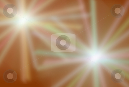 Blurred Flares stock photo, Blurred colored flares over reddish background by Superdumb