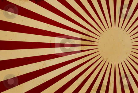 Grunge Background stock photo, Grunge design with red rays over brownish background by Superdumb