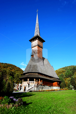 Wooden church stock photo,  by Stoica Remus bogdan