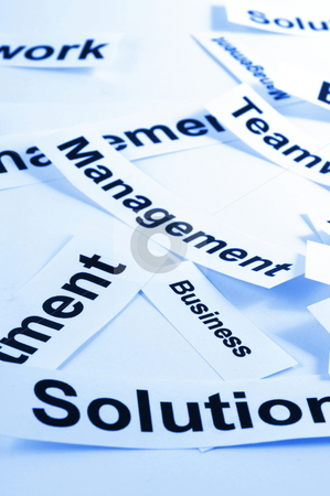 Management stock photo, Management concept with business elements on sheets of paper by Gunnar Pippel
