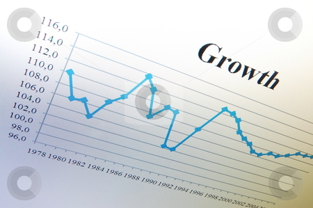 Business chart stock photo, Business chart and data from stock market showing success by Gunnar Pippel