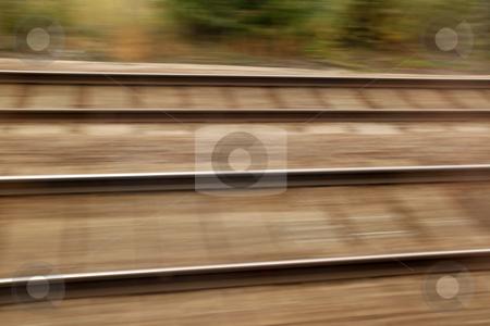 Railway track high speed blur background stock photo, Railway track high speed blur background by Stephen Rees