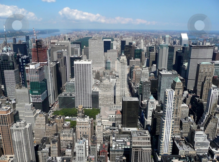 New york city stock photo, High Angle View from Manhattan, New York city by Laurent Davoust