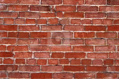 Brick Wall stock photo, Red brick wall good for background or backdrop by Henrik Lehnerer