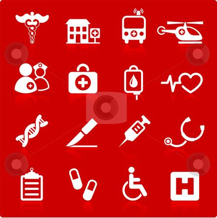 Medical hospital  internet icon collection stock vector clipart, Original vector illustration: medical hospital  internet icon collection by L Belomlinsky