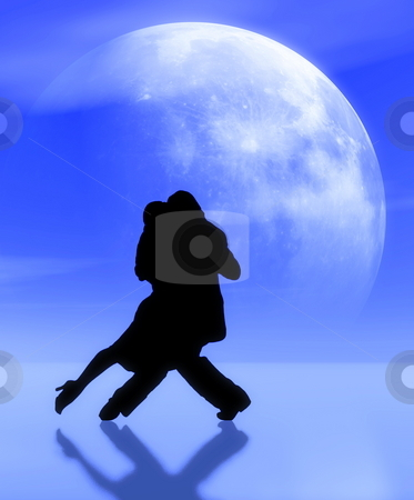 tango2 stock photo, Dancing in the moonlight by Galló Gusztáv