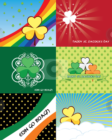 Set of St. Patricks day banners stock vector clipart, Set of St. Patricks day banners - vector illustrations by Nikola Stulic