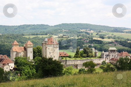 Curemonte, Limousin, France stock photo, The medieval village of Curemonte, Limousin, officially one of the 152 Most Beautiful  Villages of France and a popular tourist destination by Gozzoli