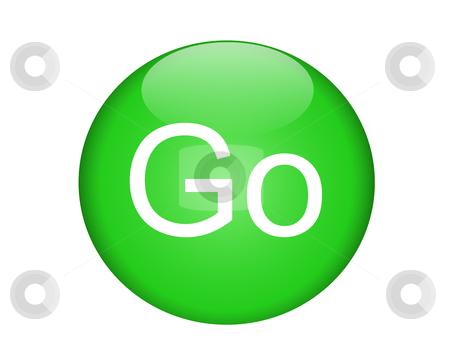 green go button stock vector