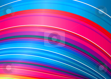 Candy rainbow twist stock vector clipart, Bright colorful rainbow background with flowing stripes ideal desktop by Michael Travers