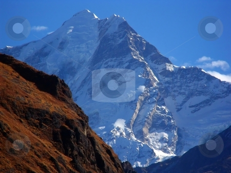 Garhwal Himalayan Peaks from Tapovan stock photo, Garhwal Himalayan Peaks from Tapovan, India by Srijan Roy Choudhury
