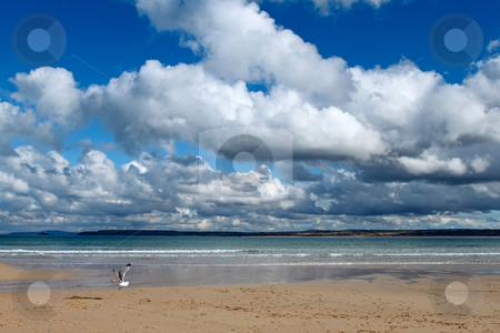 Clouds over the sea in St. Ives, Cornwall UK. stock photo, Clouds over the sea in St. Ives, Cornwall UK. by Stephen Rees