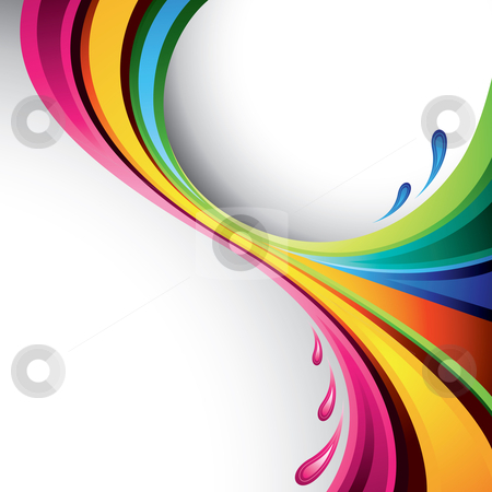 Colorful splash design stock vector clipart, A splash of various colors - vector background by Thomas Amby Johansen