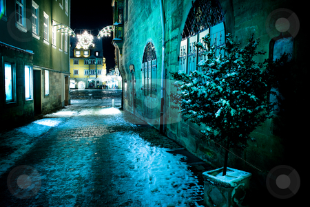 Coburg at night stock photo, Night scenes of Coburg in Germany by Val Thoermer
