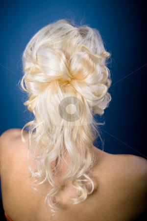 Bride hairstyle stock photo, A example of bride hairstyle by Val Thoermer