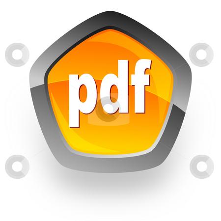 Pdf file internet icon stock photo, Pdf file internet icon by Tomasz Kaczmarek