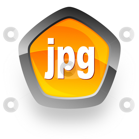 Jpg file internet icon stock photo, Jpg file internet icon by Tomasz Kaczmarek