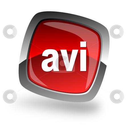 Avi file internet icon stock photo, Avi file internet icon by Tomasz Kaczmarek