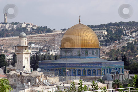 Dome of the Rock, Jerusalem stock photo, View on Jerusalem and Dome of the Rock temple by Zvonimir Atletic