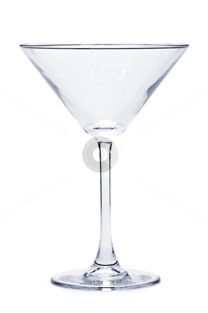 Empty martini glass stock photo, Empty martini glass isolated on white background by Elena Elisseeva