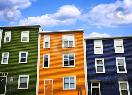 Colorful houses in St. John's stock photo, Colorful houses on hill in St. John's, Newfoundland, Canada by Elena Elisseeva