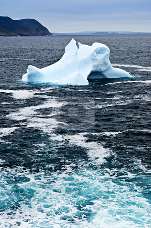 Melting iceberg stock photo, Melting iceberg off the coast of Newfoundland, Canada by Elena Elisseeva