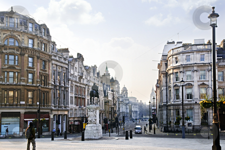 Charing Cross in London stock photo, View of Charing Cross in London at early morning by Elena Elisseeva