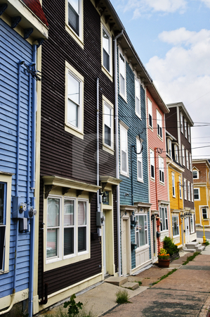 Colorful houses in St. John's stock photo, Colorful houses in St. John's, Newfoundland, Canada by Elena Elisseeva