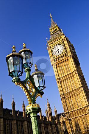 Big Ben and Palace of Westminster stock photo, Big Ben and Houses of Parliament in London by Elena Elisseeva