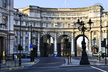 Admiralty Arch in Westminster London stock photo, Admiralty Arch in Westminster London viewed from the Mall by Elena Elisseeva