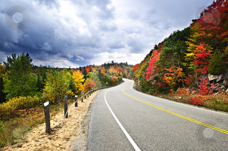 Fall highway stock photo, Fall scenic highway in northern Ontario, Canada by Elena Elisseeva