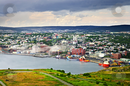 Cityscape of Saint John's from Signal Hill stock photo, Cityscape of Saint John's from Signal Hill in Newfoundland Canada by Elena Elisseeva
